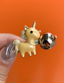 Fashion Yellow Unicorn Hair Ring
