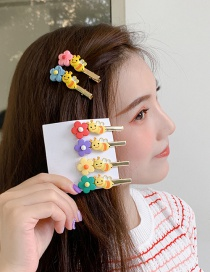 Fashion Pink Small Flower Bee Hair Clip