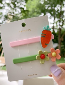 Fashion Carrot Fruit Flower Hair Clip