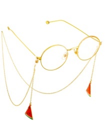 Fashion Gold Non-slip Metal Watermelon Glasses Chain