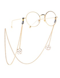 Fashion Gold Non-slip Metal Hollow Rhinestone Glasses Chain