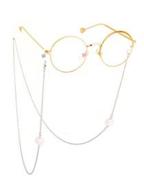 Fashion Silver Non-slip Metal Pearl Ball Chain
