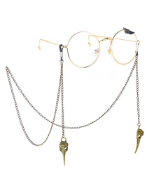 Fashion Bronze Hollow Beak Anti-slip Glasses Chain
