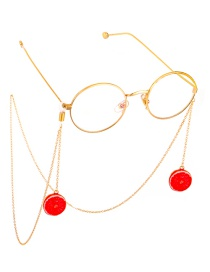 Fashion Red Non-slip Metal Grapefruit Glasses Chain