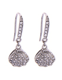 Fashion Ear Hook Silver S925 Sterling Silver Shell Pearl Earrings