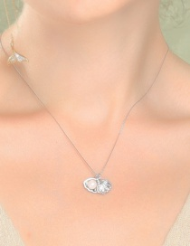 Fashion Silver Alloy Pearl Shell Necklace