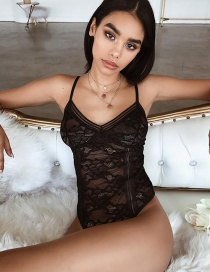 Fashion Black Erotic Bodysuit