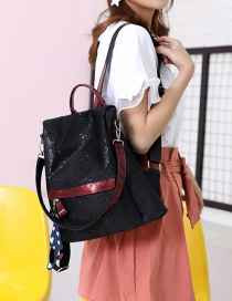 Fashion Red Mesh Sequin Backpack