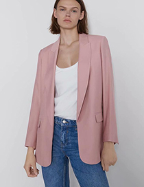 Fashion Pink Pocket Suit