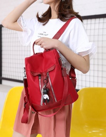Fashion Red Oxford Cloth Backpack