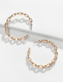 Fashion Gold Alloy Hollow Twist Chain C-shaped Earrings