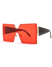 Fashion Red C7 Square Siamese Sunglasses