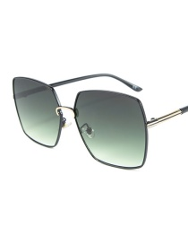 Fashion Green Film C6 Square Sunglasses