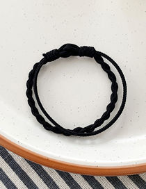 Fashion Black Contrast Twist Braided Hair Ring