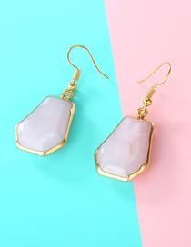 Fashion Pink Geometric Resin Earrings