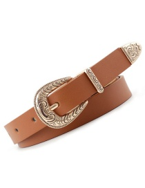 Fashion Camel Carved Pin Buckle Belt