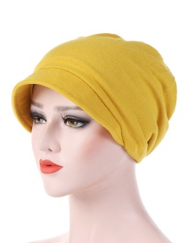 Fashion Yellow Cotton Hooded Hex Headgear