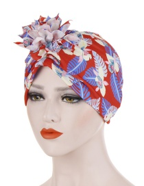Fashion Red Cotton Flower Cloth Flower Headband Hat