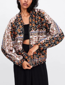 Fashion Color Flower Print Jacket