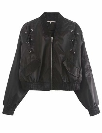 Fashion Black Short Eye Jacket