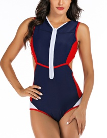 Fashion Navy One-piece Swimsuit