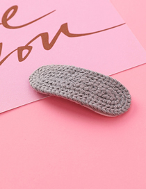 Fashion Gray Braided Wool Hair Clip