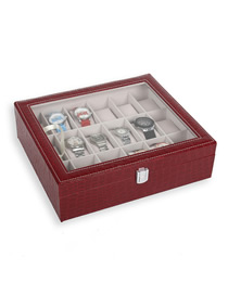 Fashion Red 18-bit Watch Storage Box