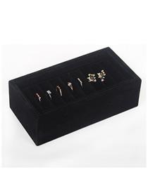Fashion Black Flannel Jewelry Display Plate