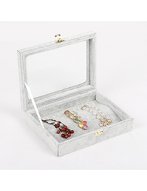 Fashion Gray Bracelet Flannel Lock Jewelry Display Box