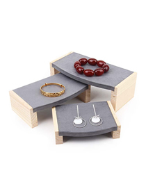 Fashion Gray Solid Bamboo Jewelry Display Stand