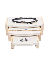 Fashion Beige Solid Bamboo Jewelry Display Stand