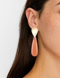Fashion Red Transparent Acrylic Drop Earrings
