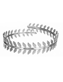 Fashion Silver Metal Feather Leaf Bracelet