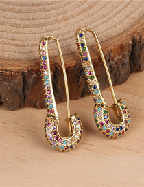Fashion Color Studded With Diamond Stud Earrings