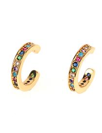 Fashion Color Zircon Earrings