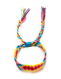 Fashion Yellow Woven Color String Bracelet