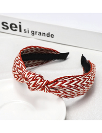 Fashion Red Corrugated Headband Corrugated Cross Headband