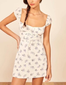 Fashion White Printed Dress