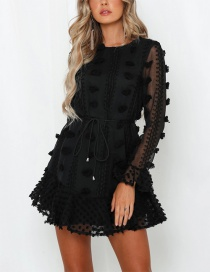 Fashion Black Lace Dress