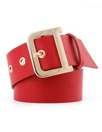 Fashion Red D Style Waist Wide Body Eye Belt