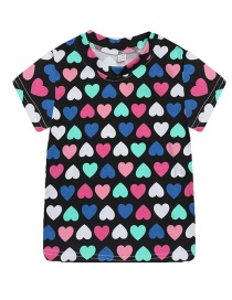 Fashion Black Bottom Love Cartoon Baby Boy T-shirt