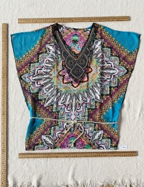 Fashion Color Embroidered Ethnic Top