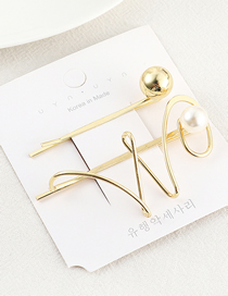 Fashion Gold Letter Hairpin Set