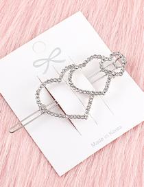 Fashion White K Love Hairpin