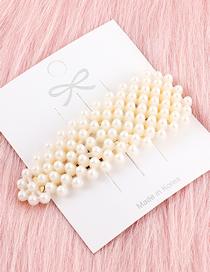 Fashion Gold Long Triangle Pearl Hairpin