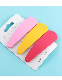 Fashion Powder + Yellow + Red Scrub Spray Hair Clip Set