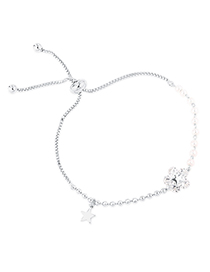 Fashion Platinum Zircon Bracelet - Star Love