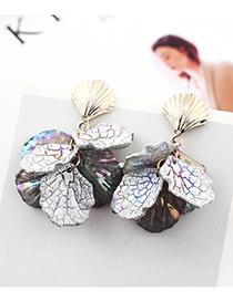 Black Shell Earrings