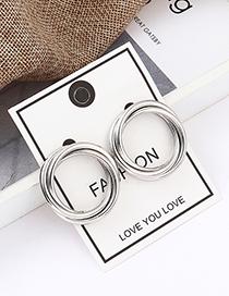 Fashion White K Cutout Earrings