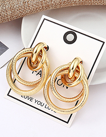 Fashion Kc Gold Dragonscale Road Earrings